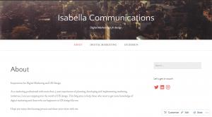 ISABELLA Blog address