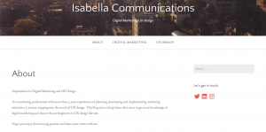 Isabella Blog Address