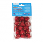 """3/4"""" Sparkle Pom Poms By Creatology: Red"""