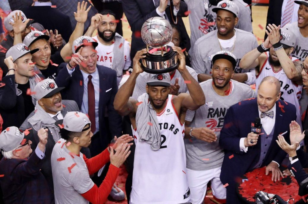 Star player Kawhi Leonard of the Toronto Raptors headed to the NBA Finals support them by buying Coors Light and getting a free flag
